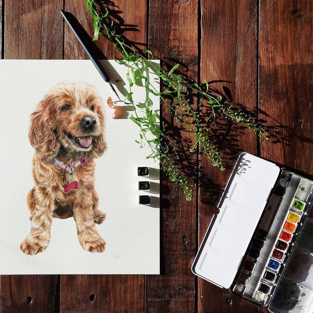Amber Dog Portrait